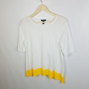 Gap brand size S white short sleeve with yellow ba